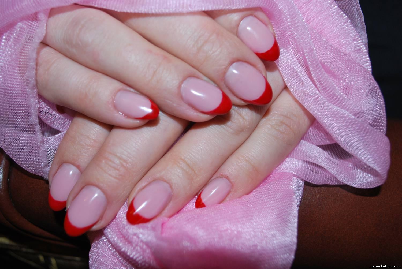 Ногти фото двухцветные нарощенные